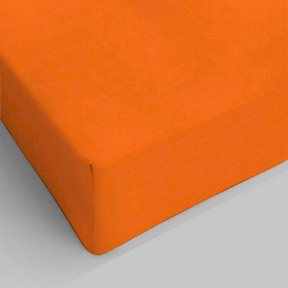 Lenzuolo da sotto con angoli arancione singolo