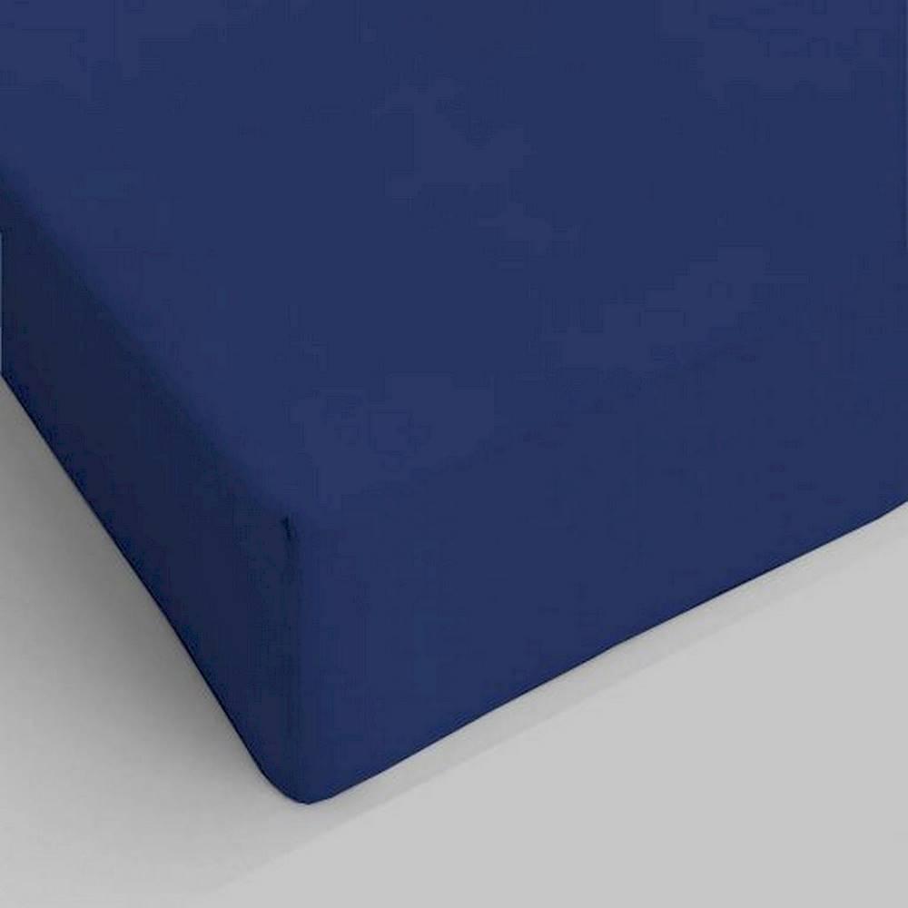Lenzuolo da sotto con angoli blu navy singolo
