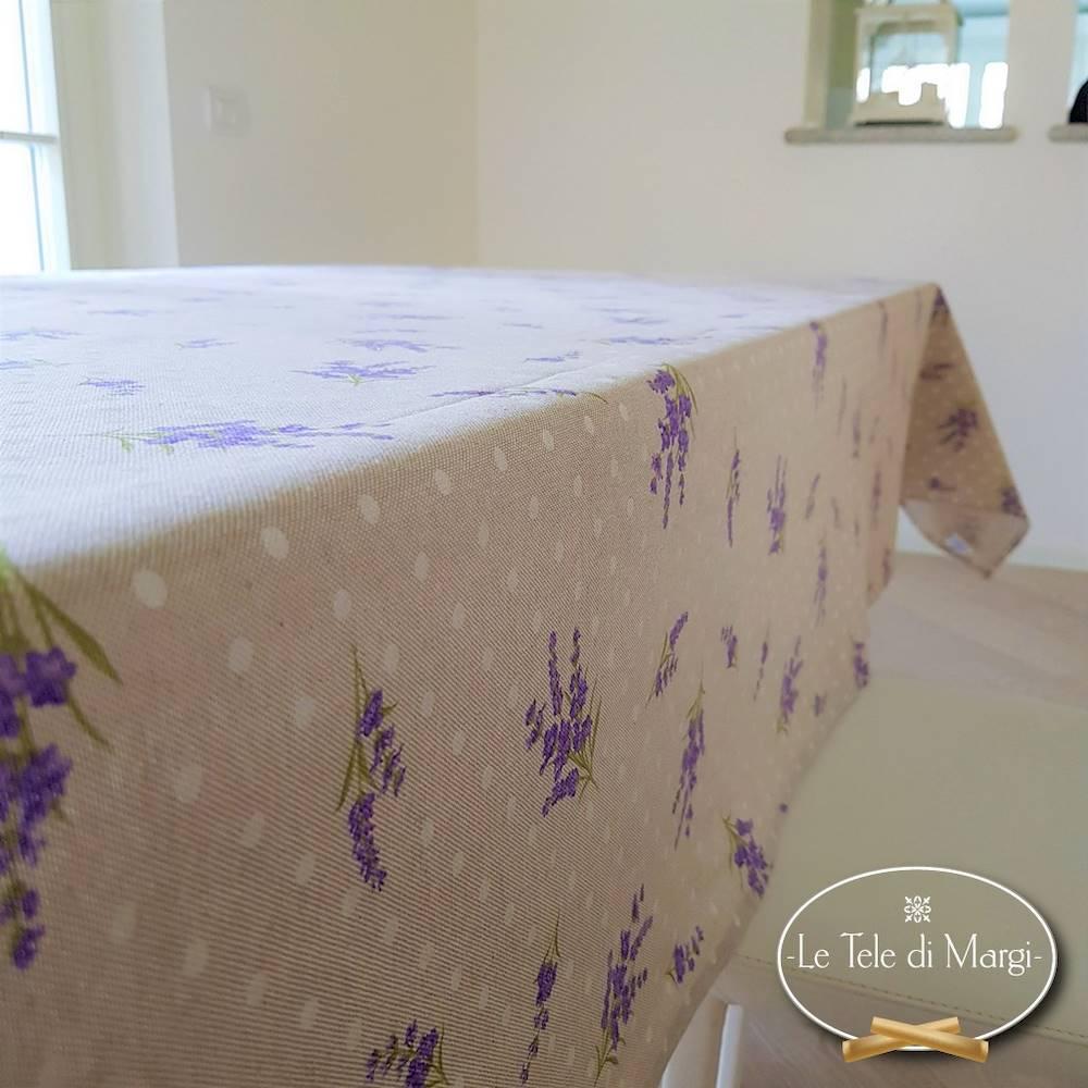 Tovaglia mazzetti di lavanda resinata 140 x 140