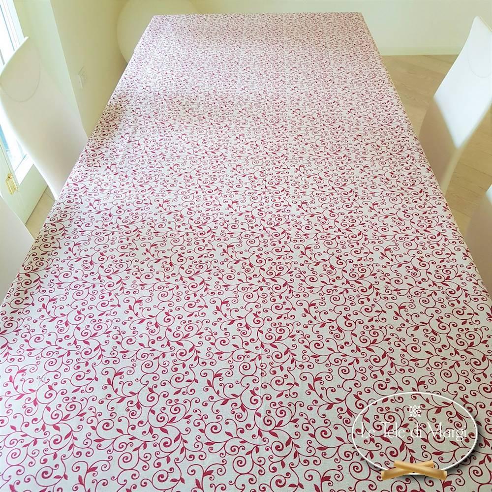 Tovaglia Ricamo rosso 140 x 300