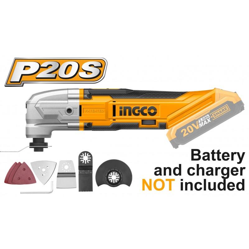 Strumento Multifunzione 20V Batteria al Litio Nudo INGCO