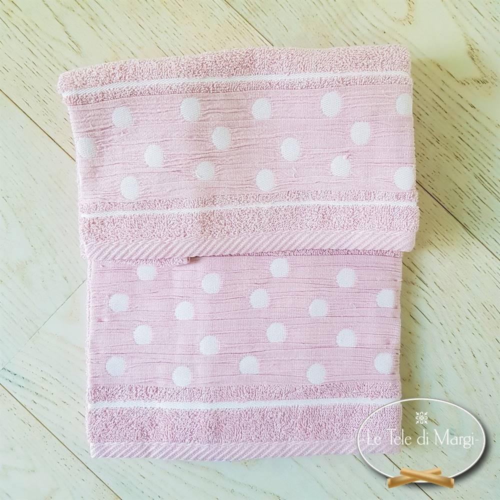 Asciugamani Pois Rosa
