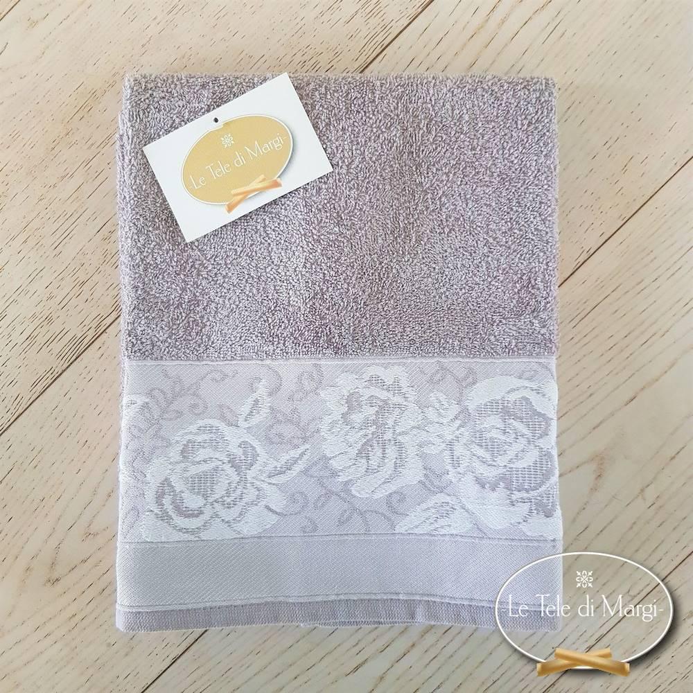 Asciugamani jacquard Rose grigio