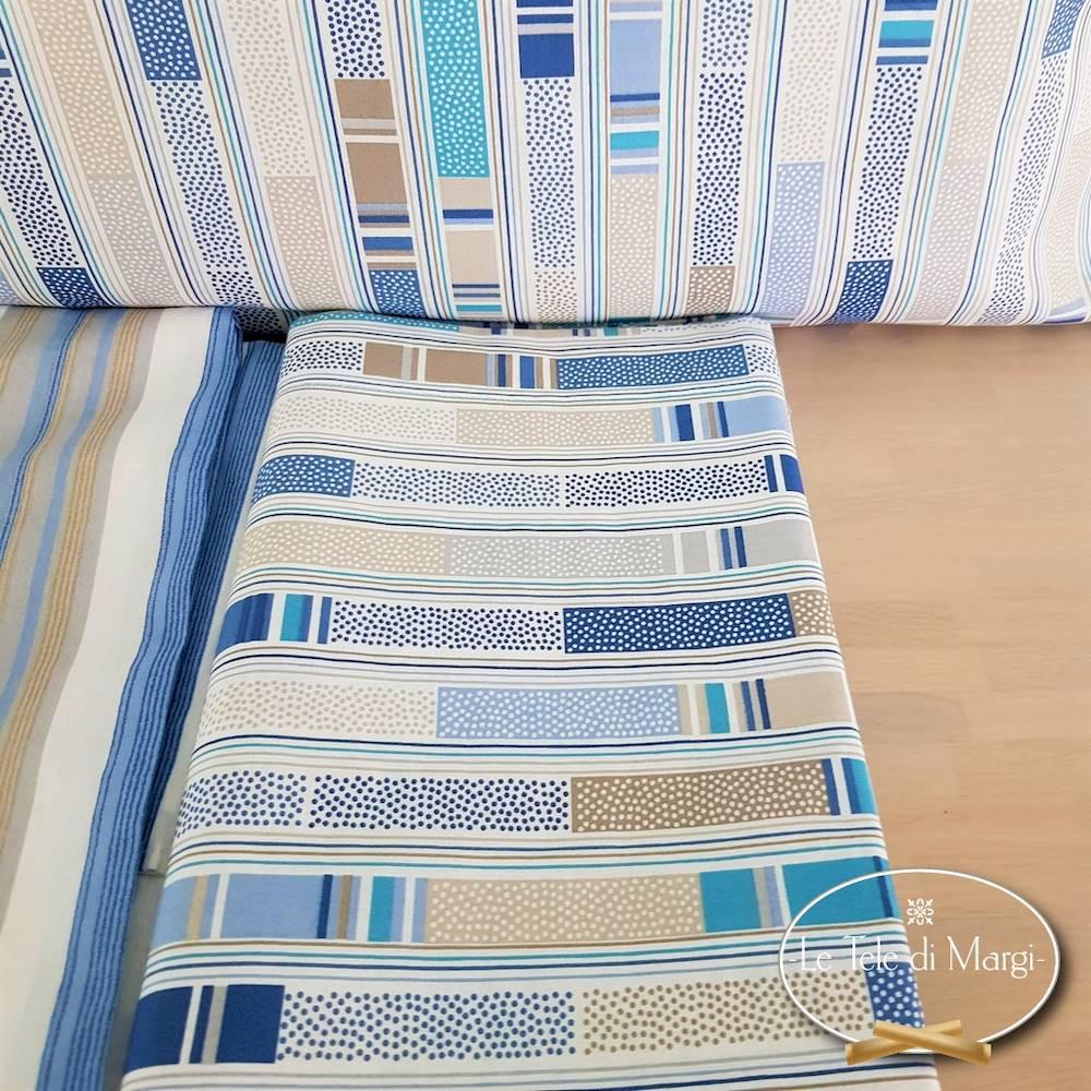 Completo Lenzuola Stecche blu matrimoniale