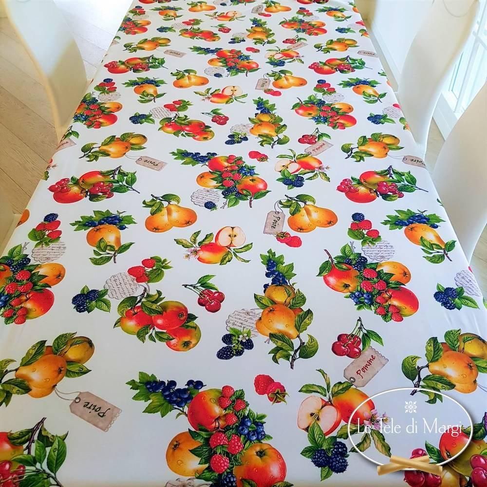 Tovaglia antimacchia Frutta 150 x 300