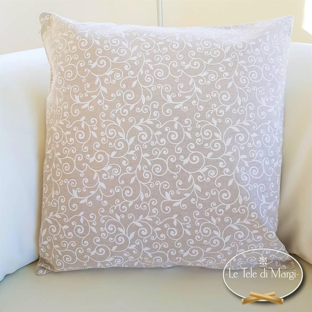Fodera cuscino 50 x 50 ricamo bianco