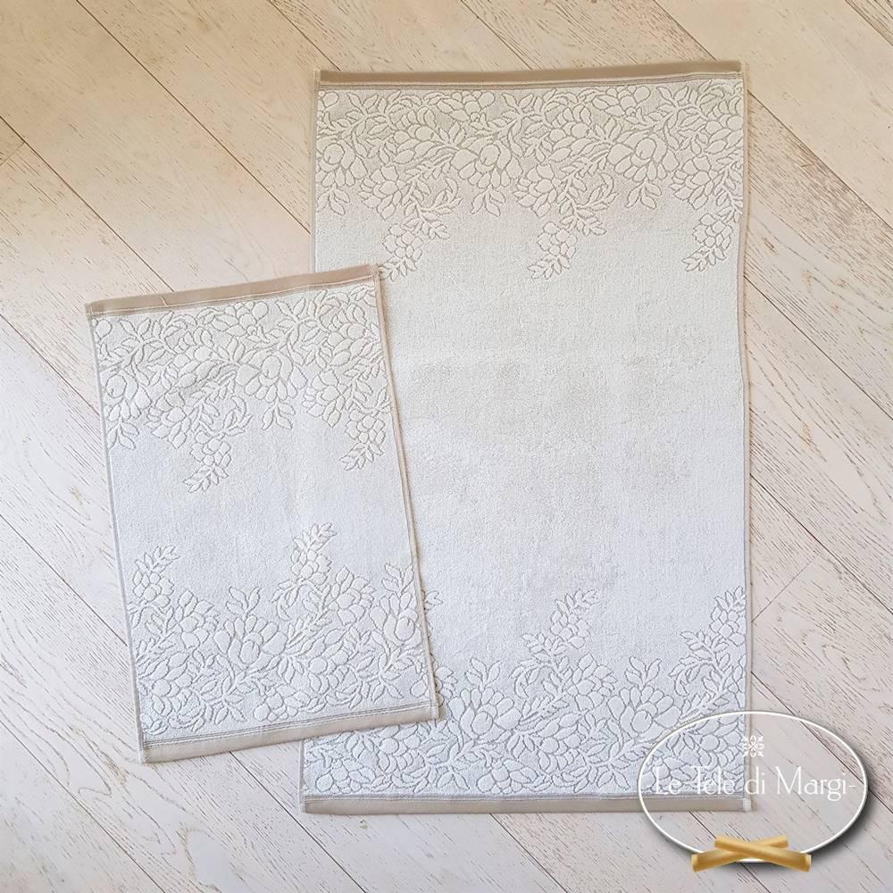 Asciugamani cotone e lino ramage