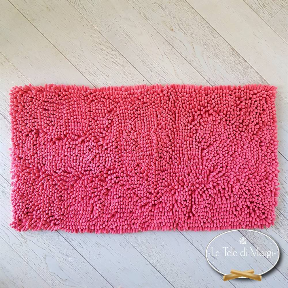 Tappeto antiscivolo passatello corallo 50 x 80
