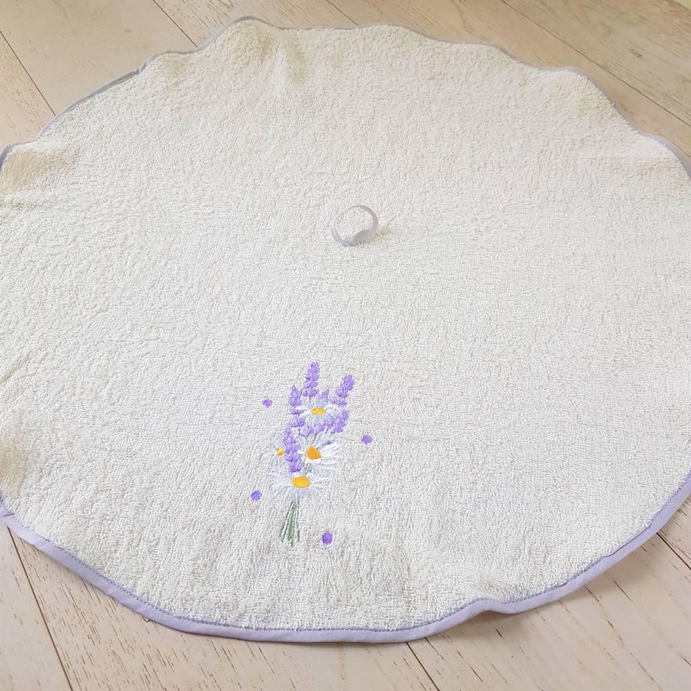 Girella ricamata lavanda