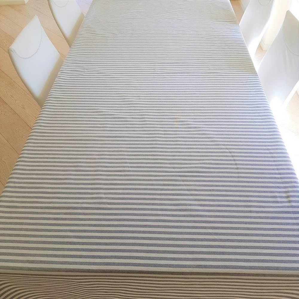 Tovaglia millerighe grigio 140 x 360