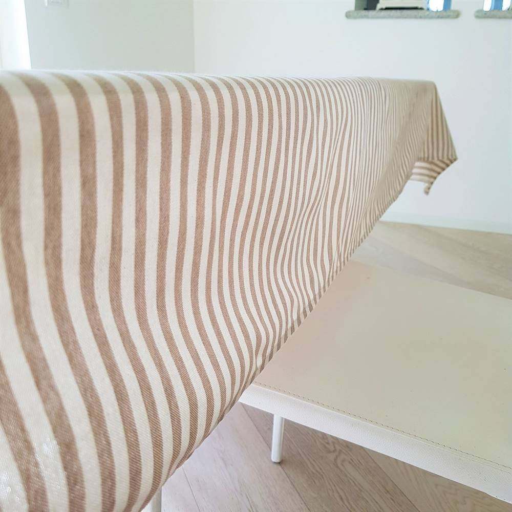 Tovaglia millerighe beige 140 x 360