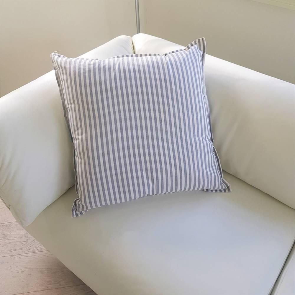 Cuscino arredo 70 x 70 millerighe grigio
