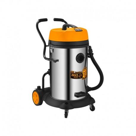 Bidone Aspirapolvere/Liquidi INOX 75LT - 2X1200W INGCO