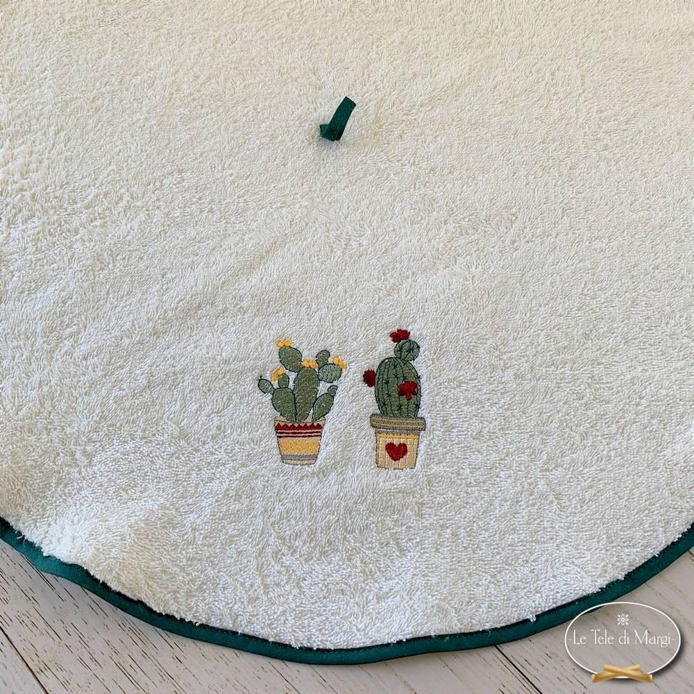 Girella ricamata cactus