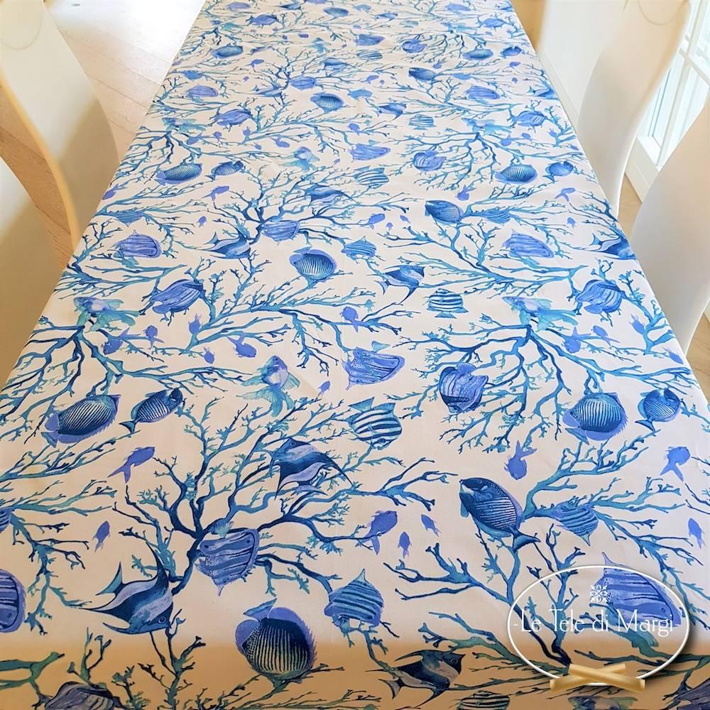 Tovaglia Caraibi blu resinata 140 x 240