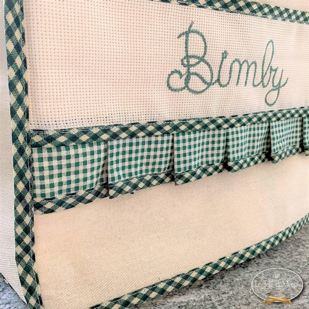 Copri Bimby ricamato verde