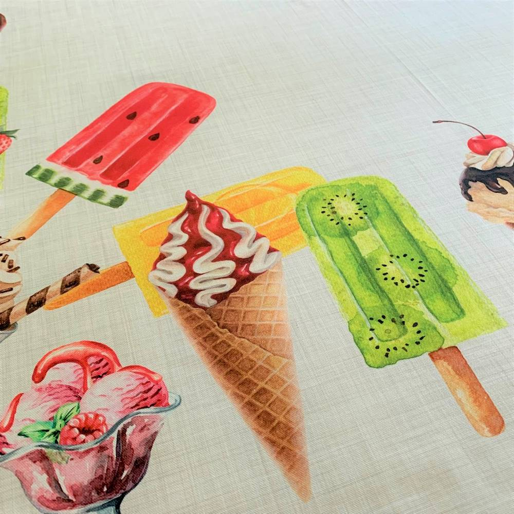 Tovaglia gelati stampa digitale 150 X 250