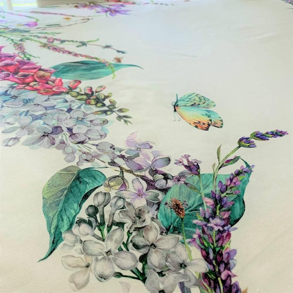 Tovaglia cornice di fiori in stampa digitale 150 X 250