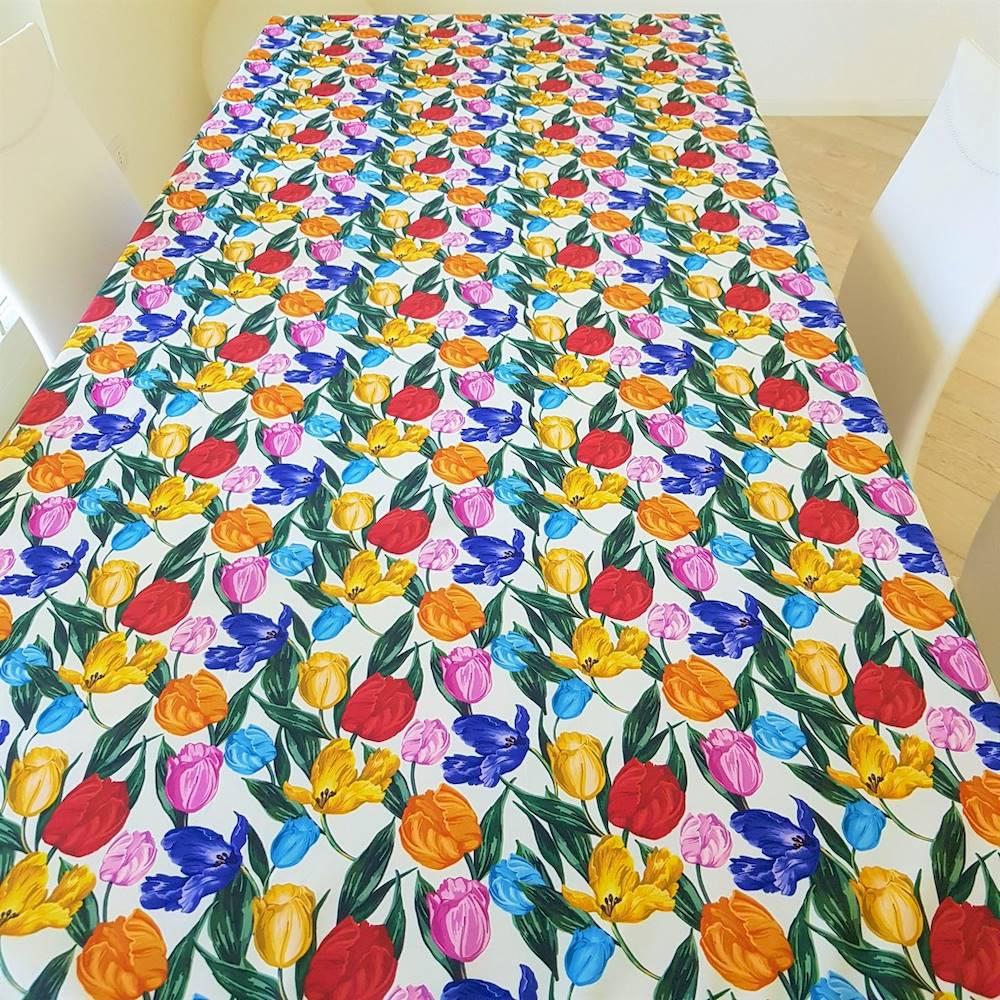 Tovaglia antimacchia Tulipani 140 x 180
