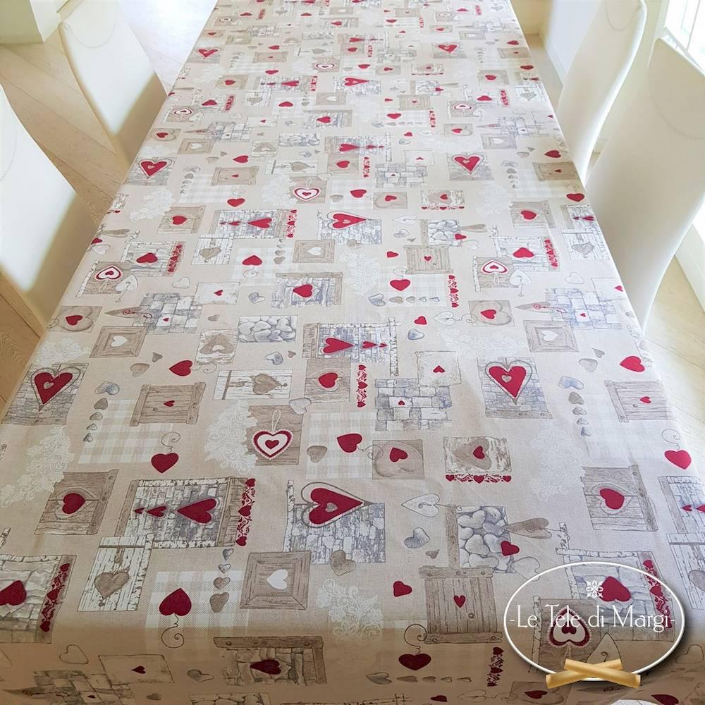 Tovaglia Tirolese shabby resinata 140 x 180