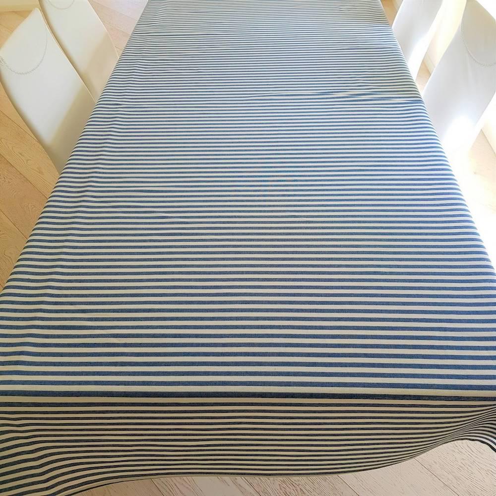 Tovaglia millerighe blu resinata 140 x 180