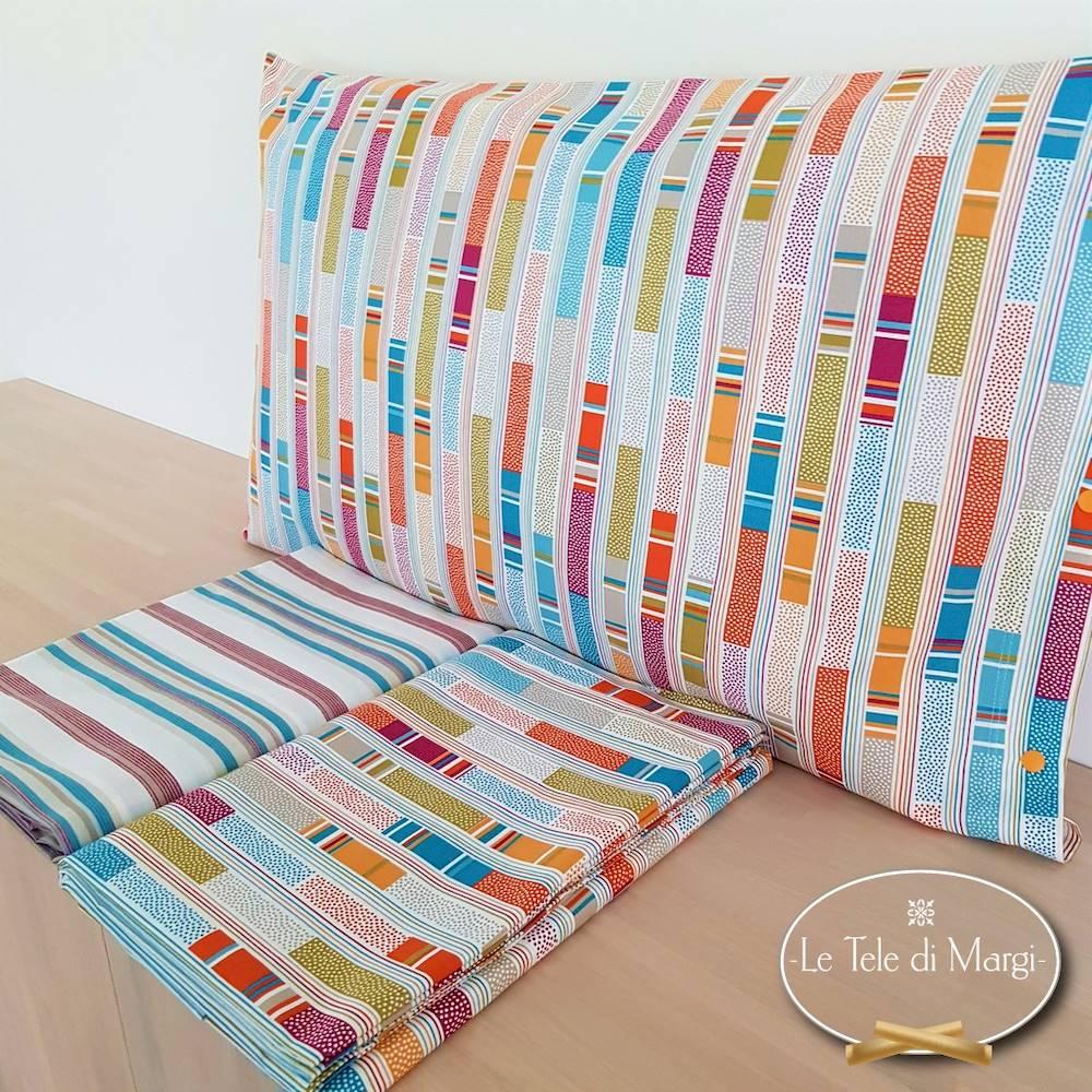 Completo Lenzuola Stecche multicolor piazza e mezzo