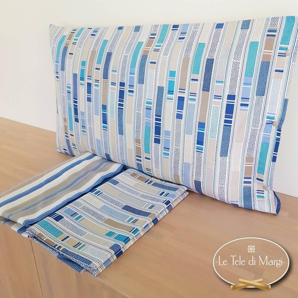 Completo Lenzuola Stecche blu singolo