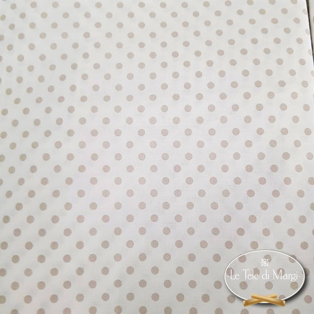 Completo Lenzuola Pois e rigoni tortora piazza e mezzo