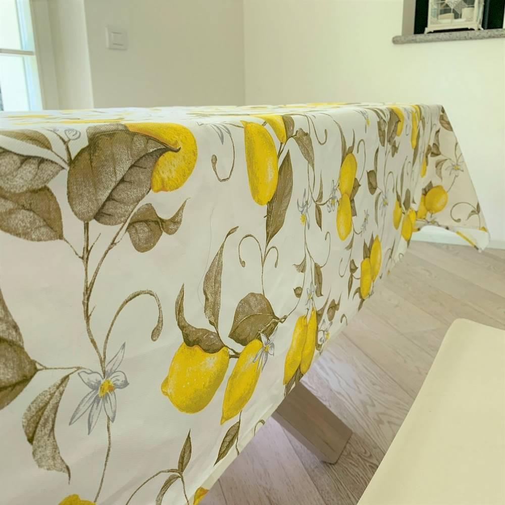 Tovaglia Limoni bianca 140 X 180