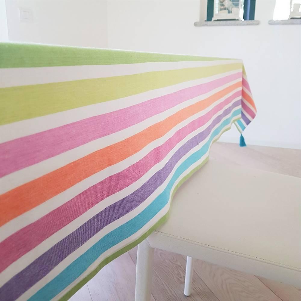Tovaglie tinto in filo Arcobaleno 140 X 180