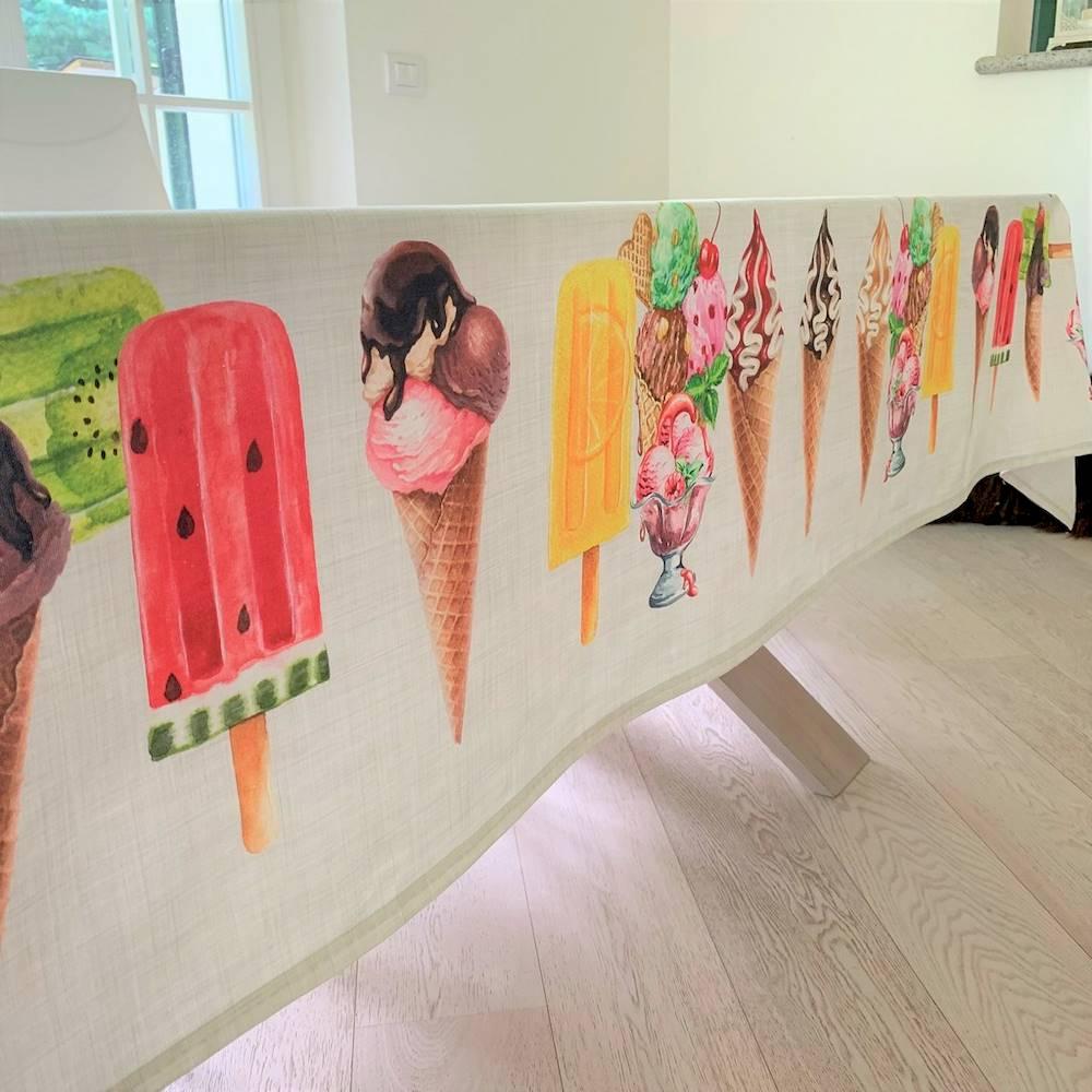 Tovaglia gelati stampa digitale 150 X 180
