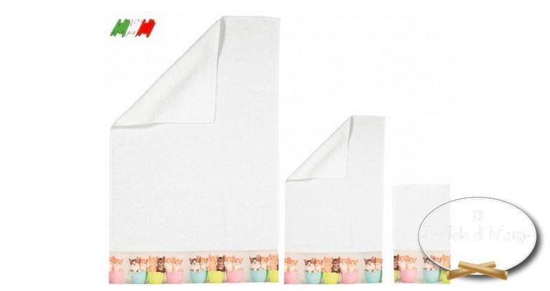 Asciugamani stampa digitale Gattini vasetto