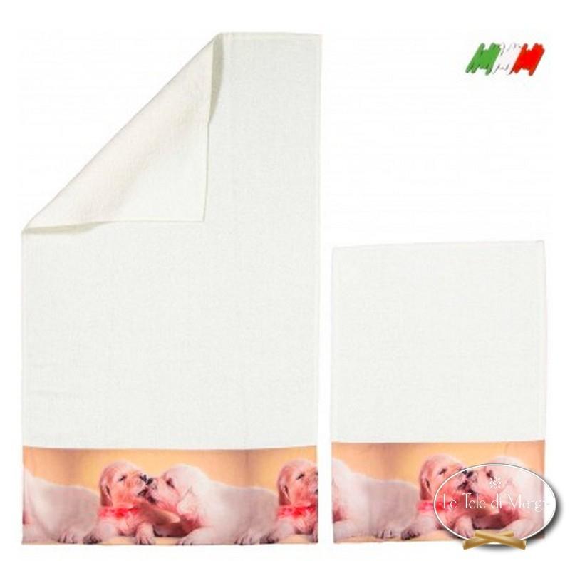 Asciugamani stampa digitale Cuccioli Love
