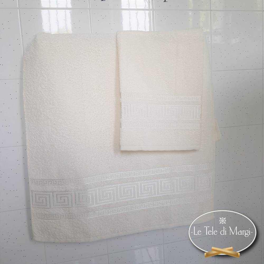 Asciugamani Greca panna