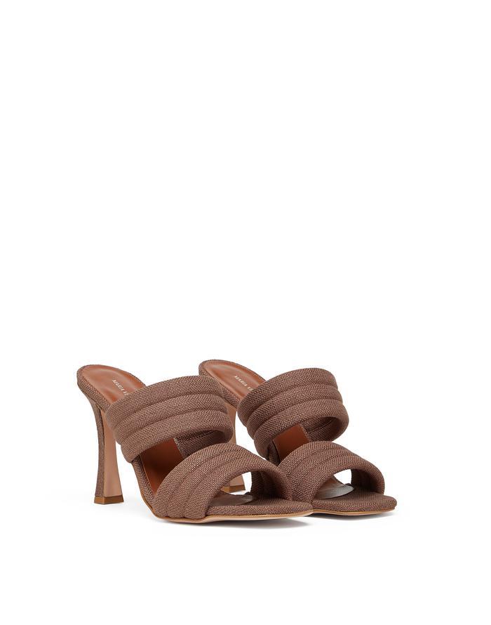 Sandalo in tessuto con doppia fascia di Maria Vittoria Paolillo