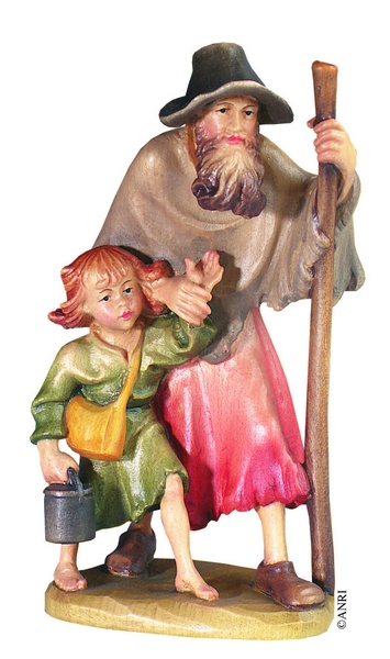Pastore con bambino Anri Ulrich Bernardi  cm. 10