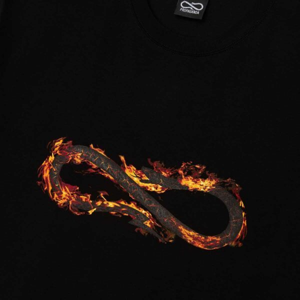 PROPAGANDA Tee Logo Fire Black