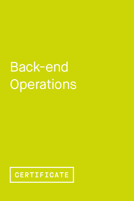 Back-end Operations