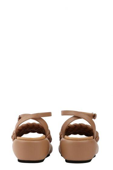 Sandalo nude intrecciato con cinturino Strategia