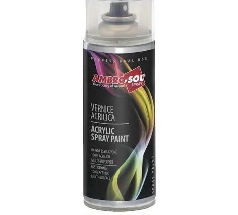 Smalto Acrilico Spray Multiuso 400ML Ambrosol Argento