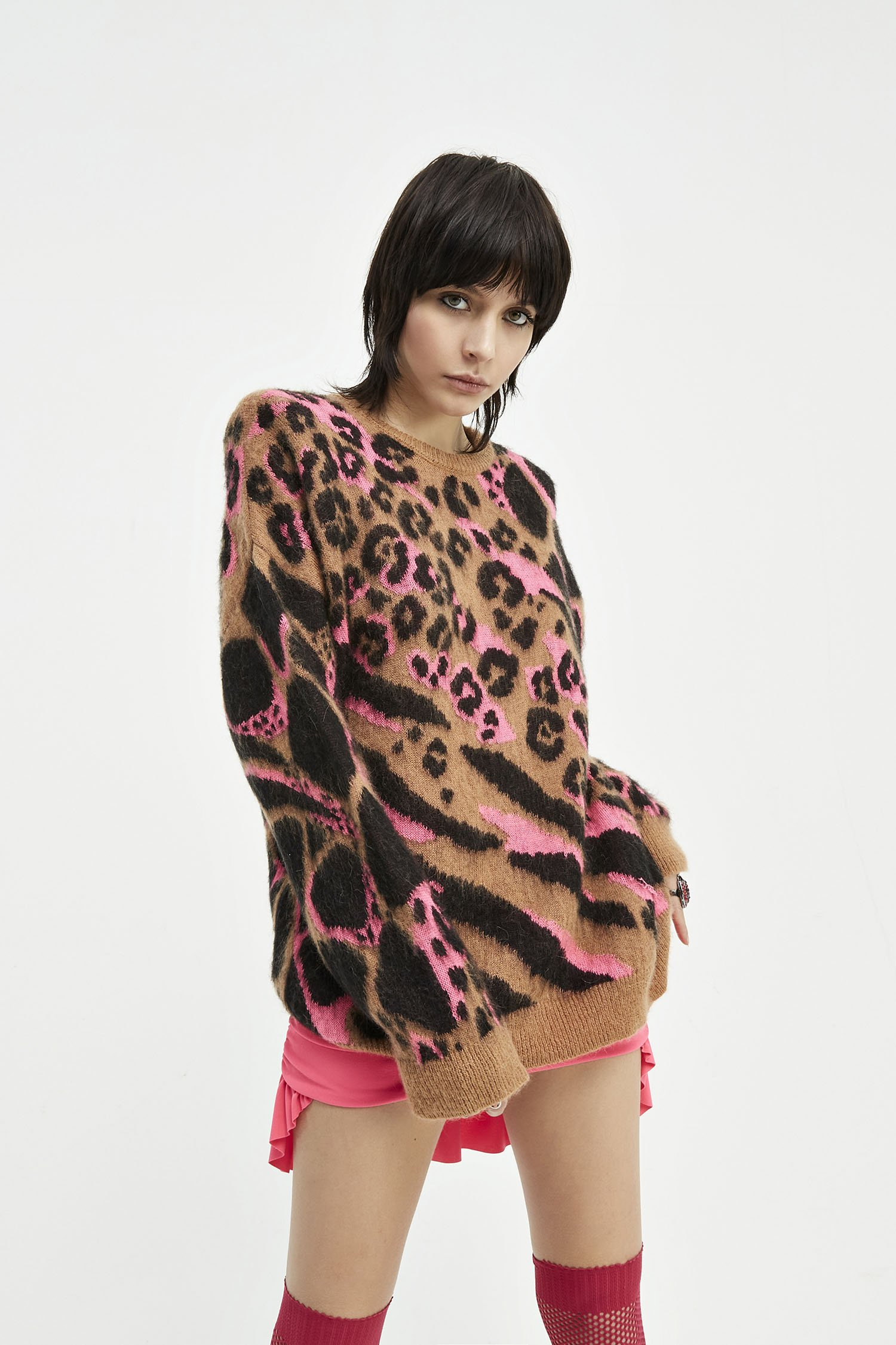 SHOPPING ON LINE ANIYE BY  PULLOVER  CAMOU FLUO FUXIA NEW COLLECTION  WOMEN'S FALL/WINTER 2022