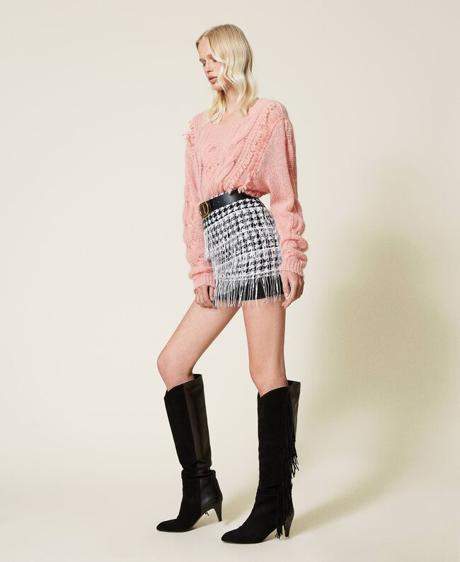 SHOPPING ON LINE TWINSET MILANO GONNA CON FRANGE DI PAILETTES NEW COLLECTION PREVIEW FALL WINTER 2022