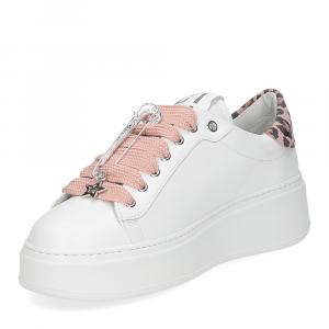 Sneakers rosa con spilla GIO+