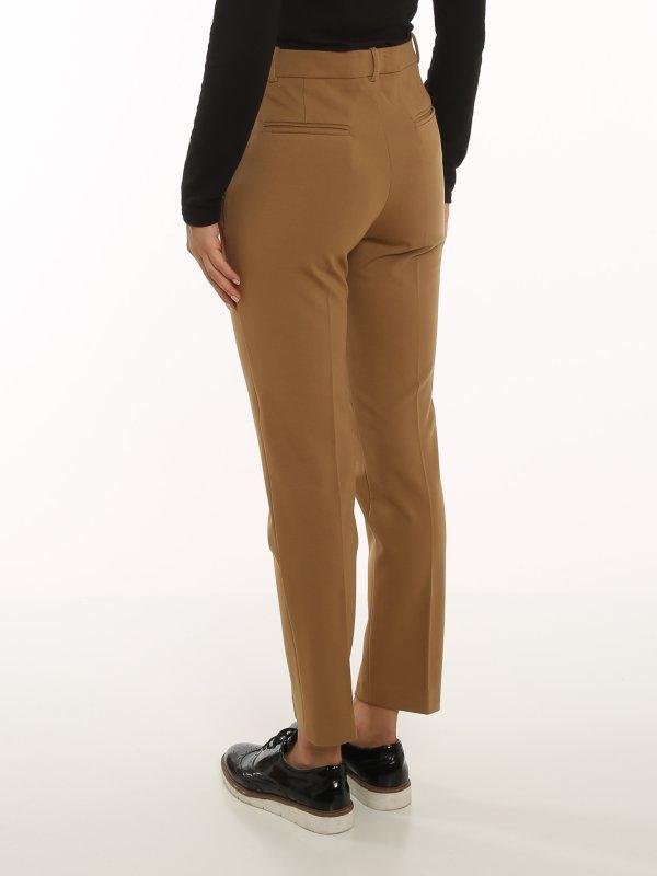 Pantalone Bello 110 cigarette-fit marrone Pinko