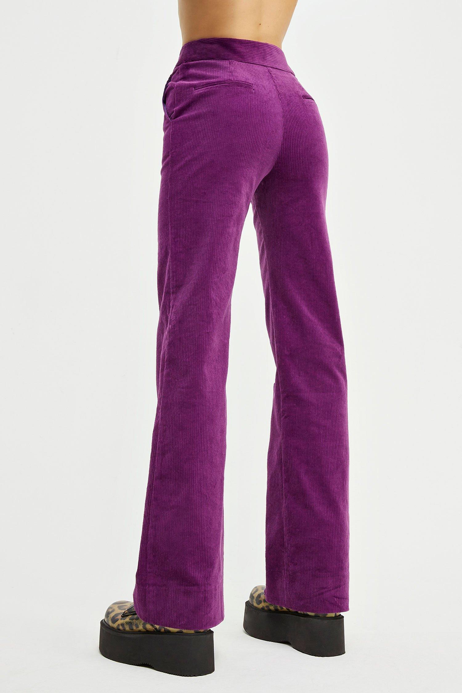 Pantaloni Virgy Pants viola Aniye By