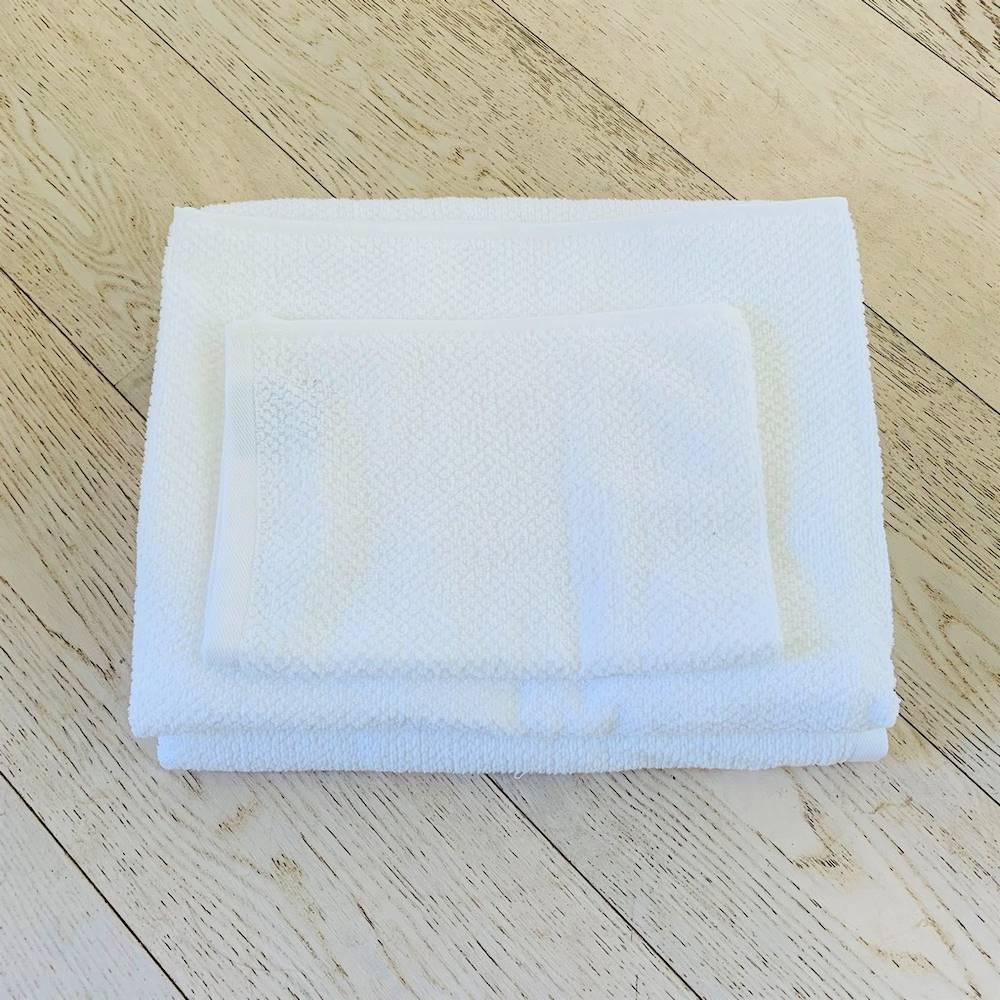 Telo doccia chicco di riso Bianco