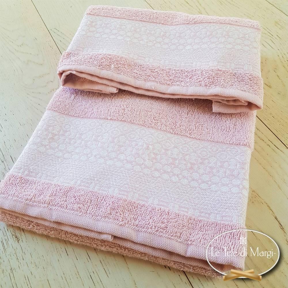 Telo doccia piedipull geometrico rosa