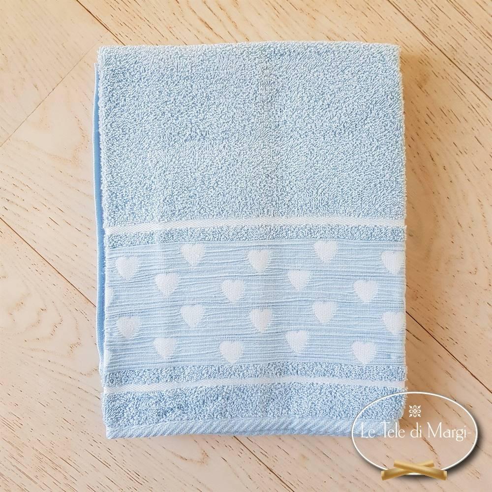 Telo doccia Cuoricini azzurro