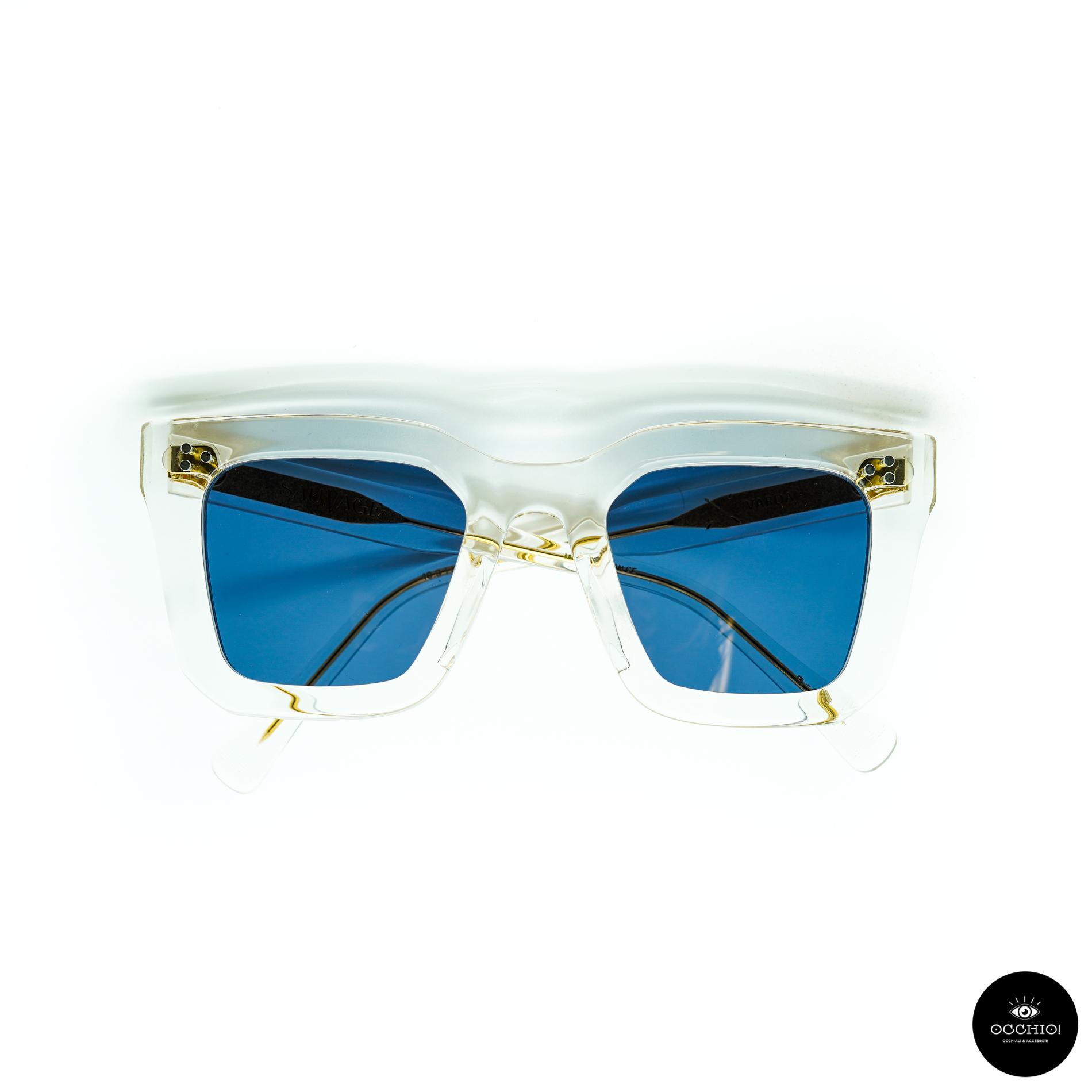SAUVAGE, Varda Clear crystal / Solid Blue