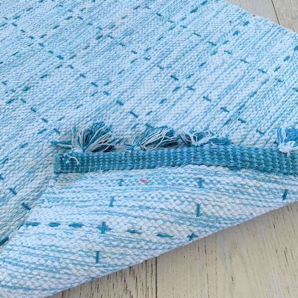 Tappeto Tiago azzurro 55 x 120